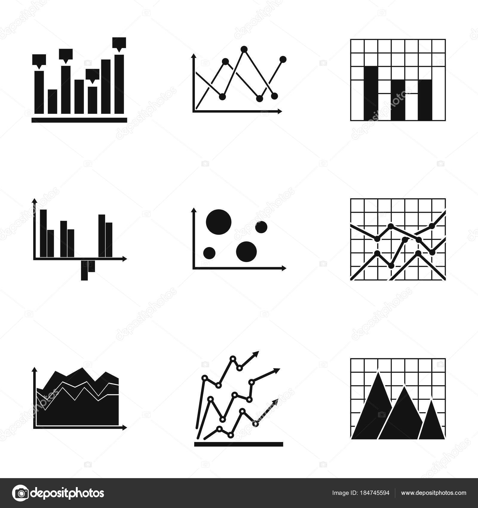 Tabelle Symbole gesetzt, einfachen Stil — Stockvektor © anatolir ...