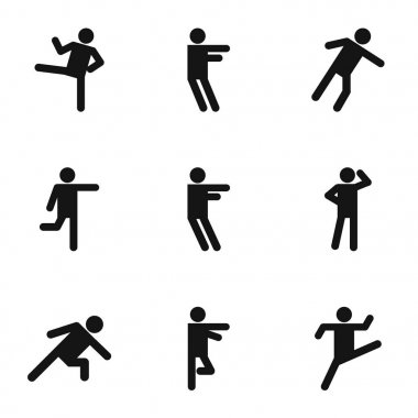 Physical activity icons set, simple style