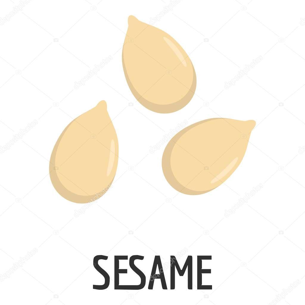 Sesame icon, flat style