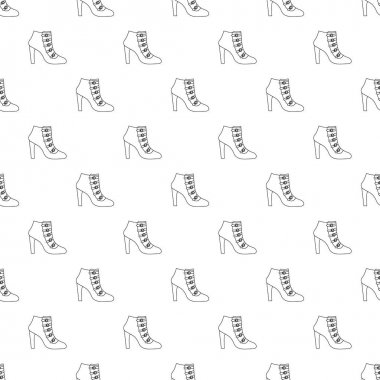 Woman shoes pattern vector seamless