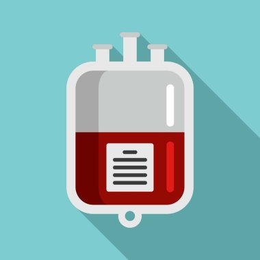 Blood transfusion package icon. Flat illustration of blood transfusion package vector icon for web design icon