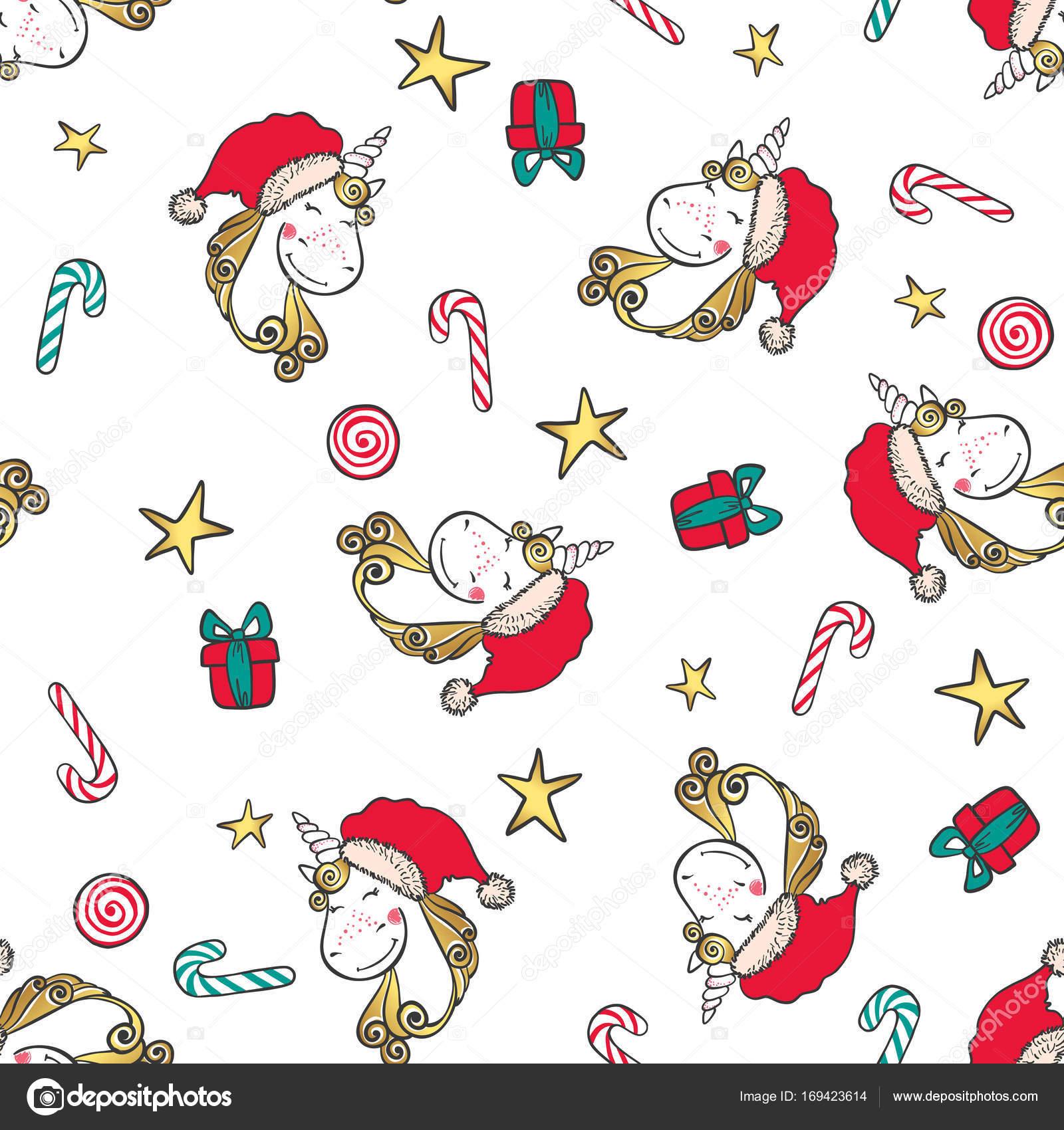 Mano dibuja patrones sin fisuras de Navidad con las estrellas ...