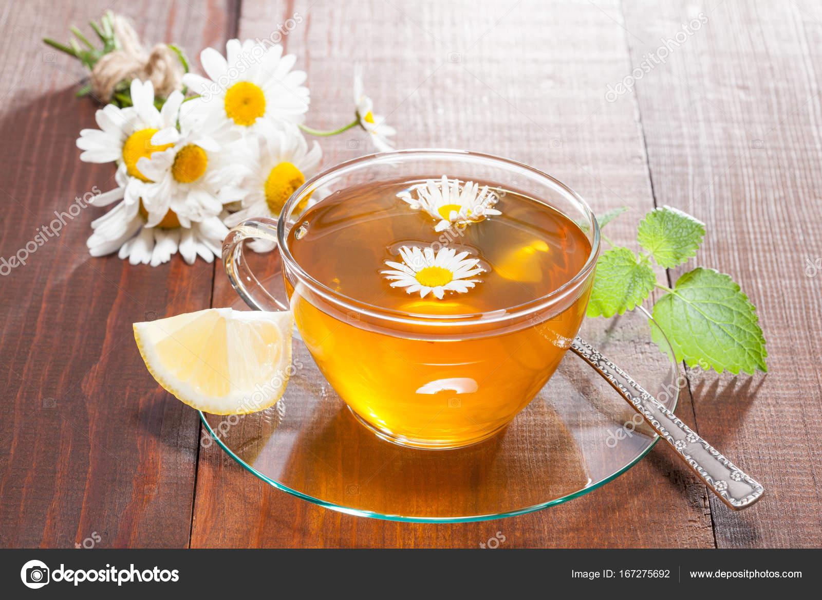 ромашковый чай с медом и лимоном
