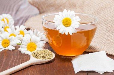 Camomile tea with melissa and lemon