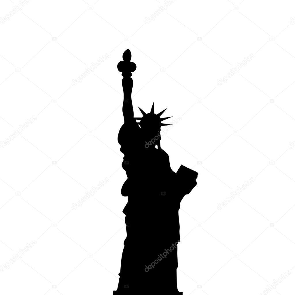 statue of liberty vector black shadows silhouette stock vector rh depositphotos com statue of liberty vector art statue of liberty vector free