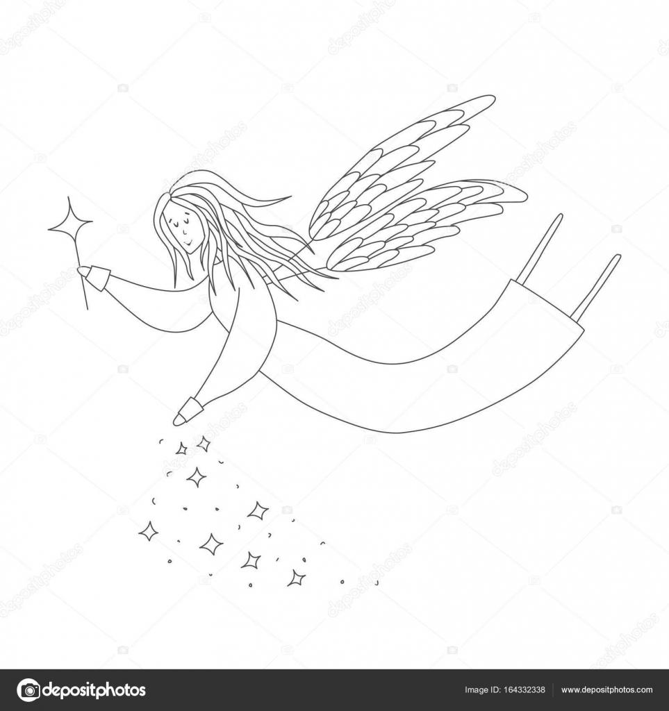 Sevimli Peri Sihirli Değnek Ile Antistress Boyama Kitabı Elle