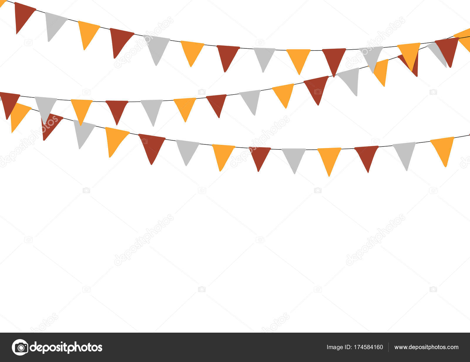 Thanksgiving Bunting Flags Holiday Decorations Vector Illustration Vector By Gabylya89