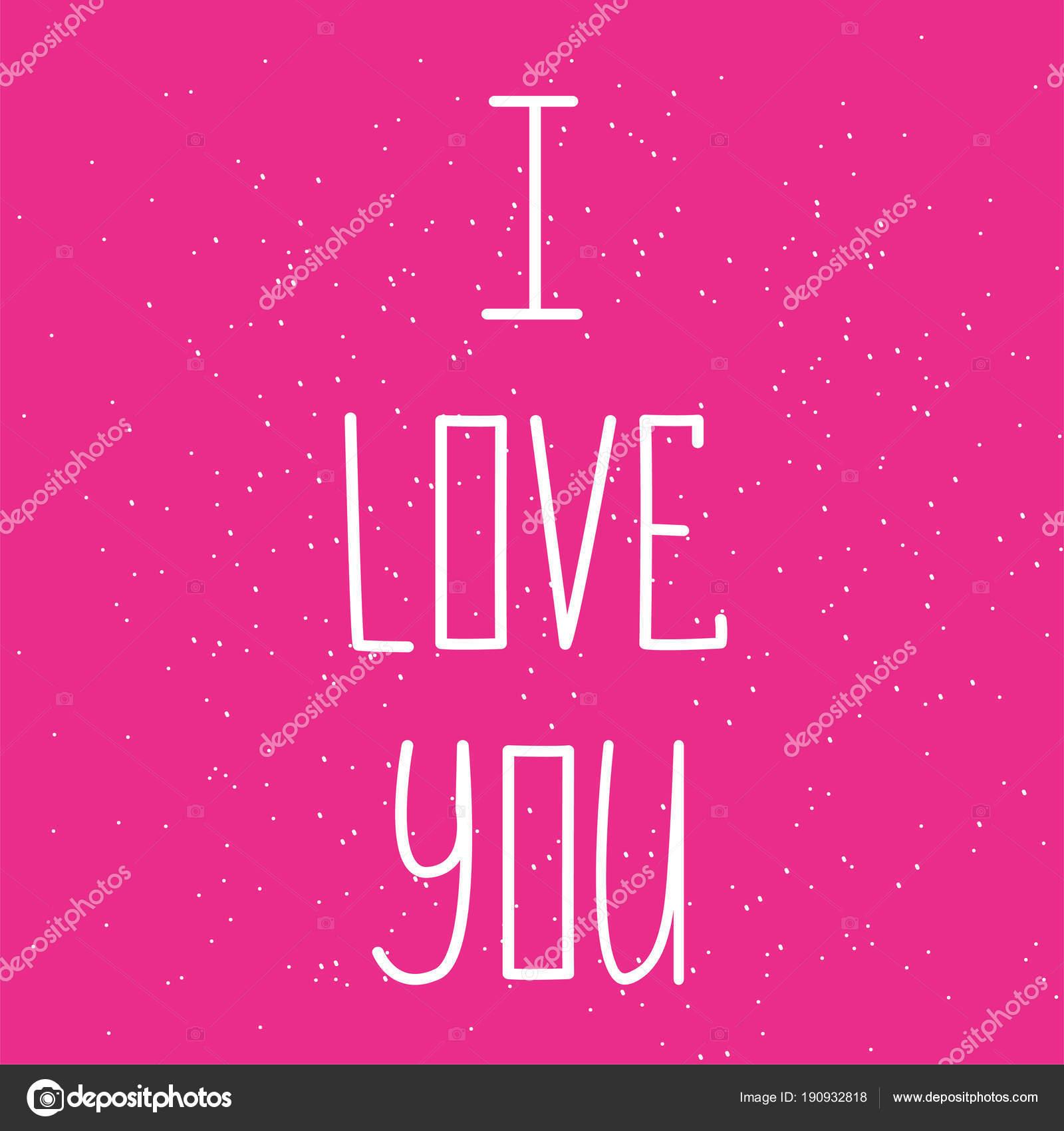 Eu Te Amo De Cartão Postal Frase Para Dia Dos Namorados Ilustração