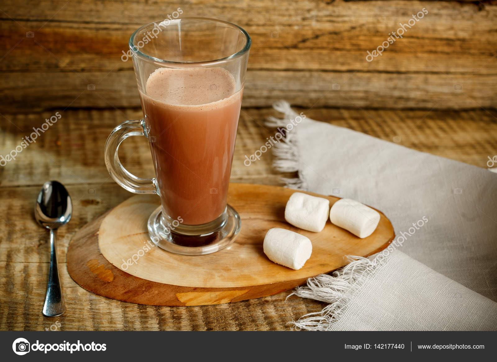 Kaffee Mit Milch Isoliert Auf Hölzernen Hintergrund Mit Löffel Und