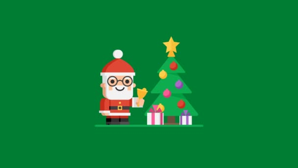 Concept christmas tree character santa claus motion graphics video concept m4hsunfo Images