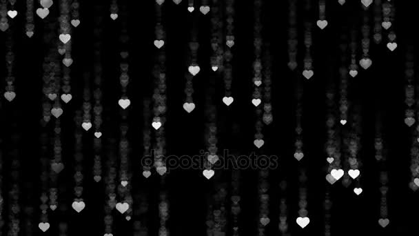 heart falling rain black background abstract background stock