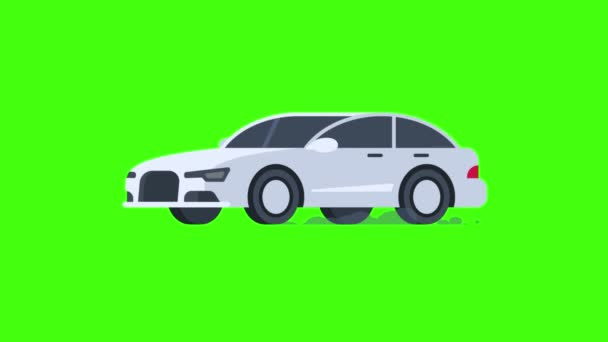 Car Rides and Flashes Spotlight. Transparent Background. Motion Graphics. Animation Video.