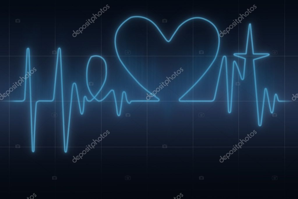 Herz-EKG-Diagramm — Stockfoto © pryzmat #125925712