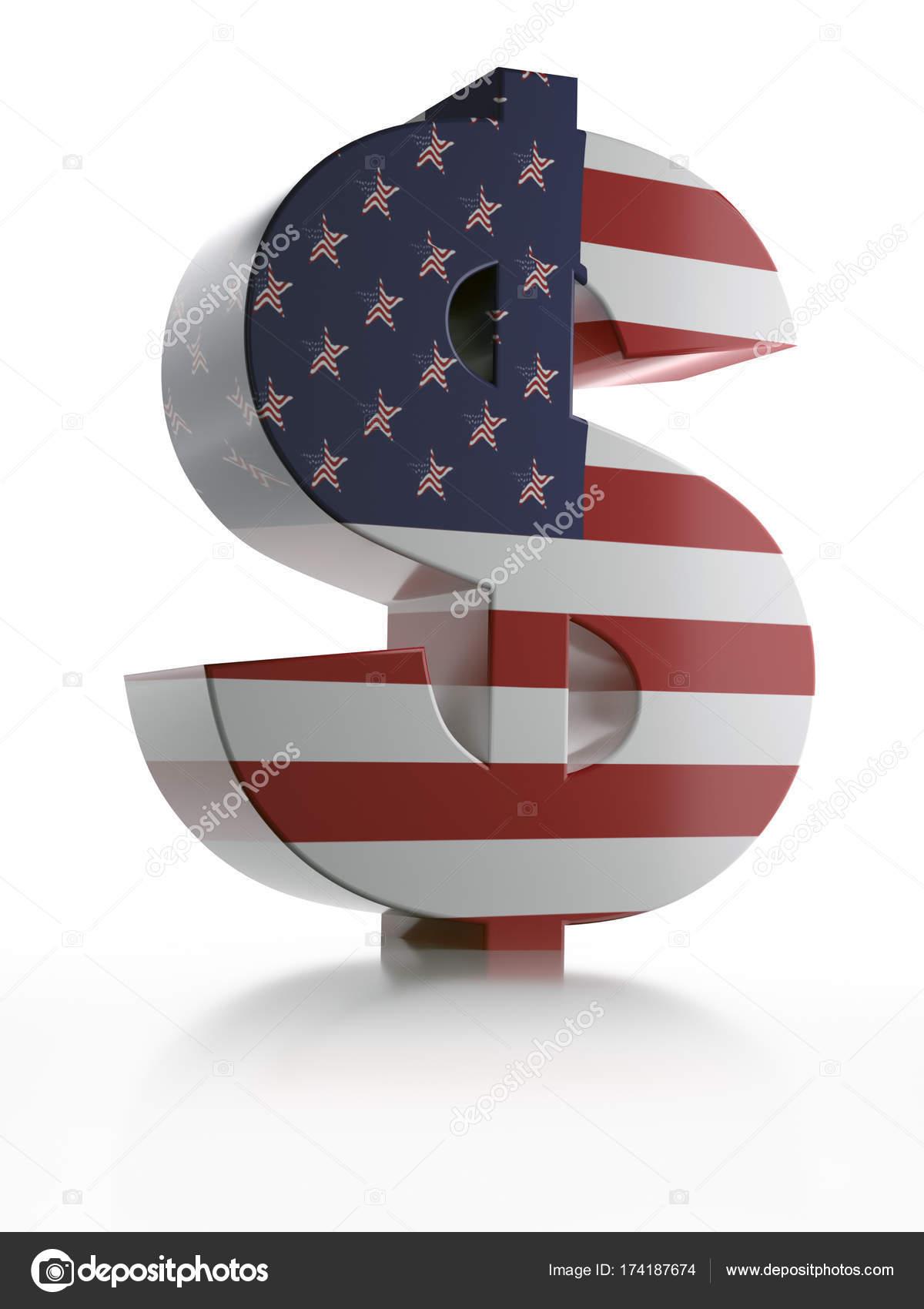 3d Usd Currency Symbol Stock Photo Pryzmat 174187674