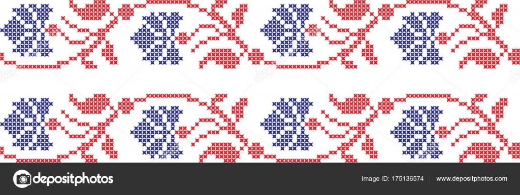 patrón nacional ucraniano bordado cruz — Vector de stock © lililia ...
