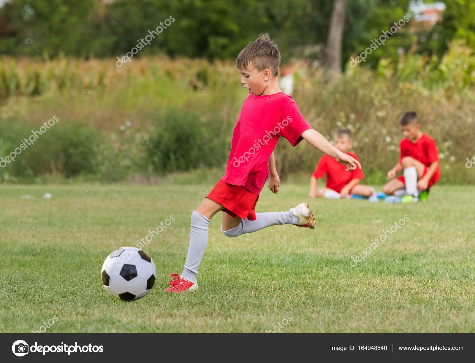 Kinder Fussball Fussball Kinder Spieler Match Am