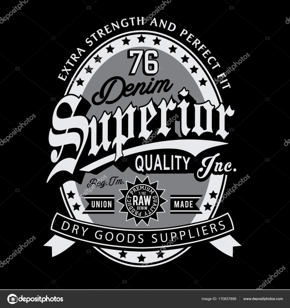 Denim Vintage Typography Shirt Graphic Stock Vector C Syquallo 170837898