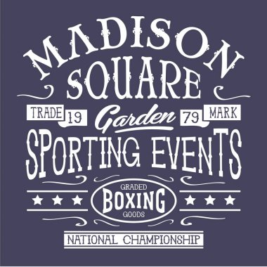 Vintage boxing typography, sport, t-shirt graphic