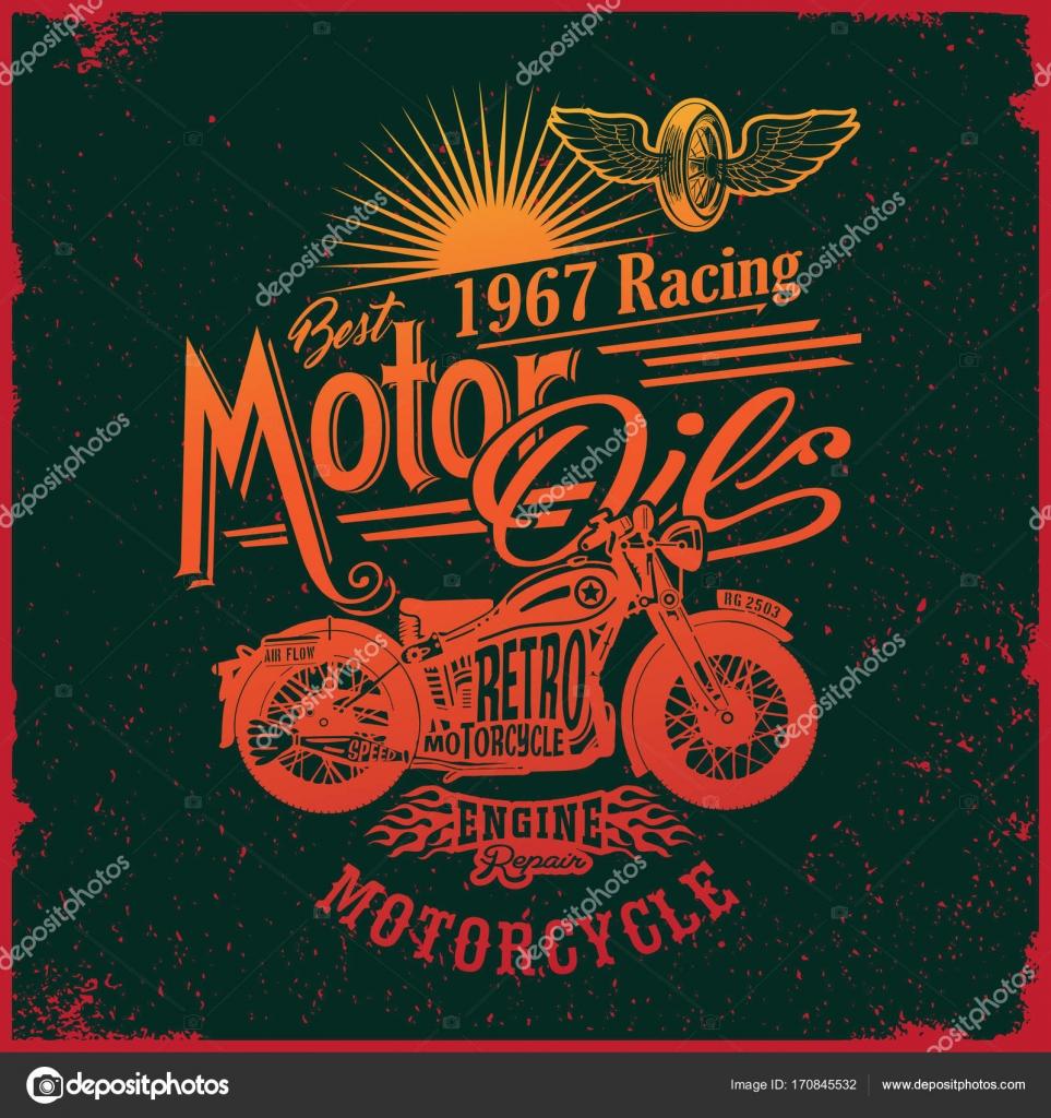 Prechodu Kresby Design Motocyklu Typografie Vektorove Ilustrace