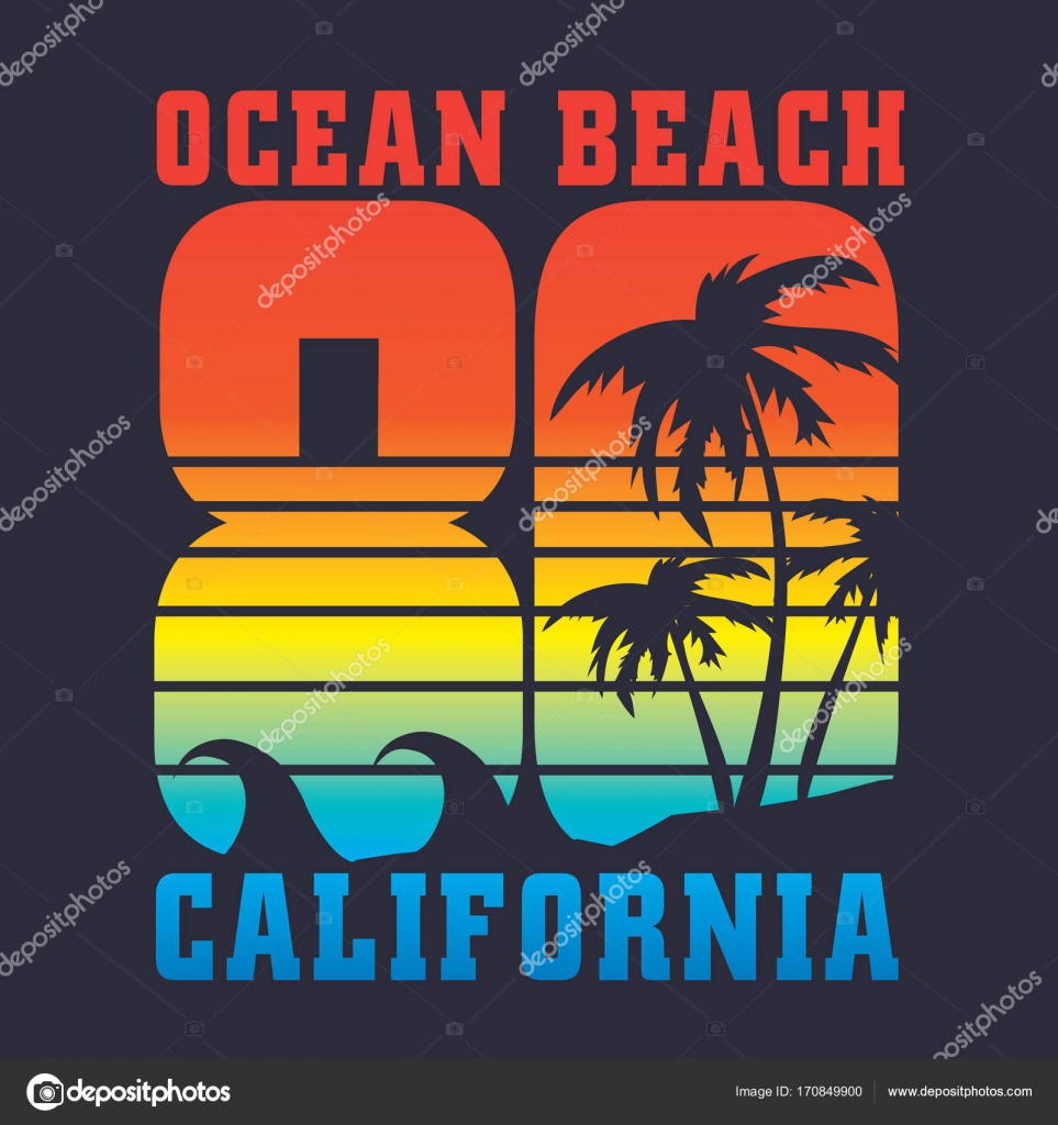 9f9c24a8 California Surf Typography Shirt Graphic — Stock Vector © Syquallo ...