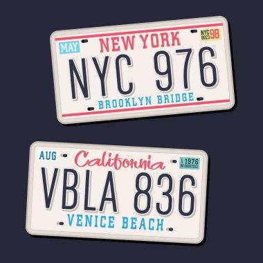 License plates typography