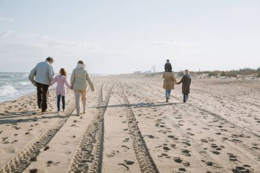 Multigenerational family walking together