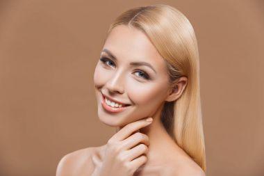 beautiful blonde tender woman