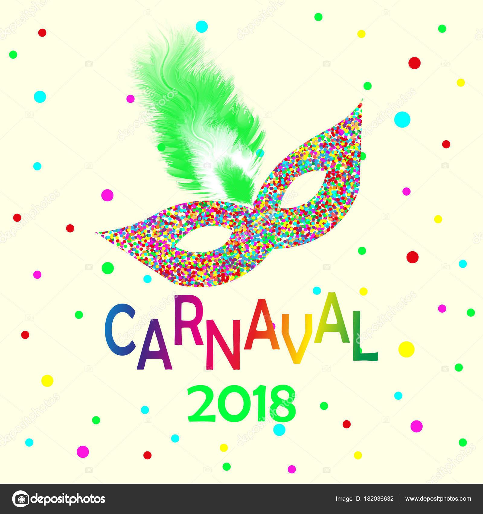 Fiestas Carnavales en Brasil y Carnaval de Venecia. Máscara de ...