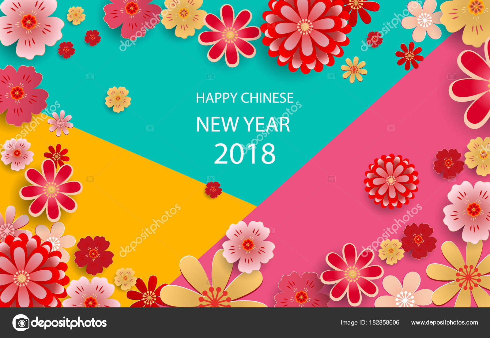 Happy new year2018 chinese new year greeting card poster flyer happy new year2018 chinese new year greeting card poster flyer or invitation kristyandbryce Gallery