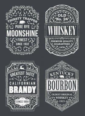 Alcohole Labels Set
