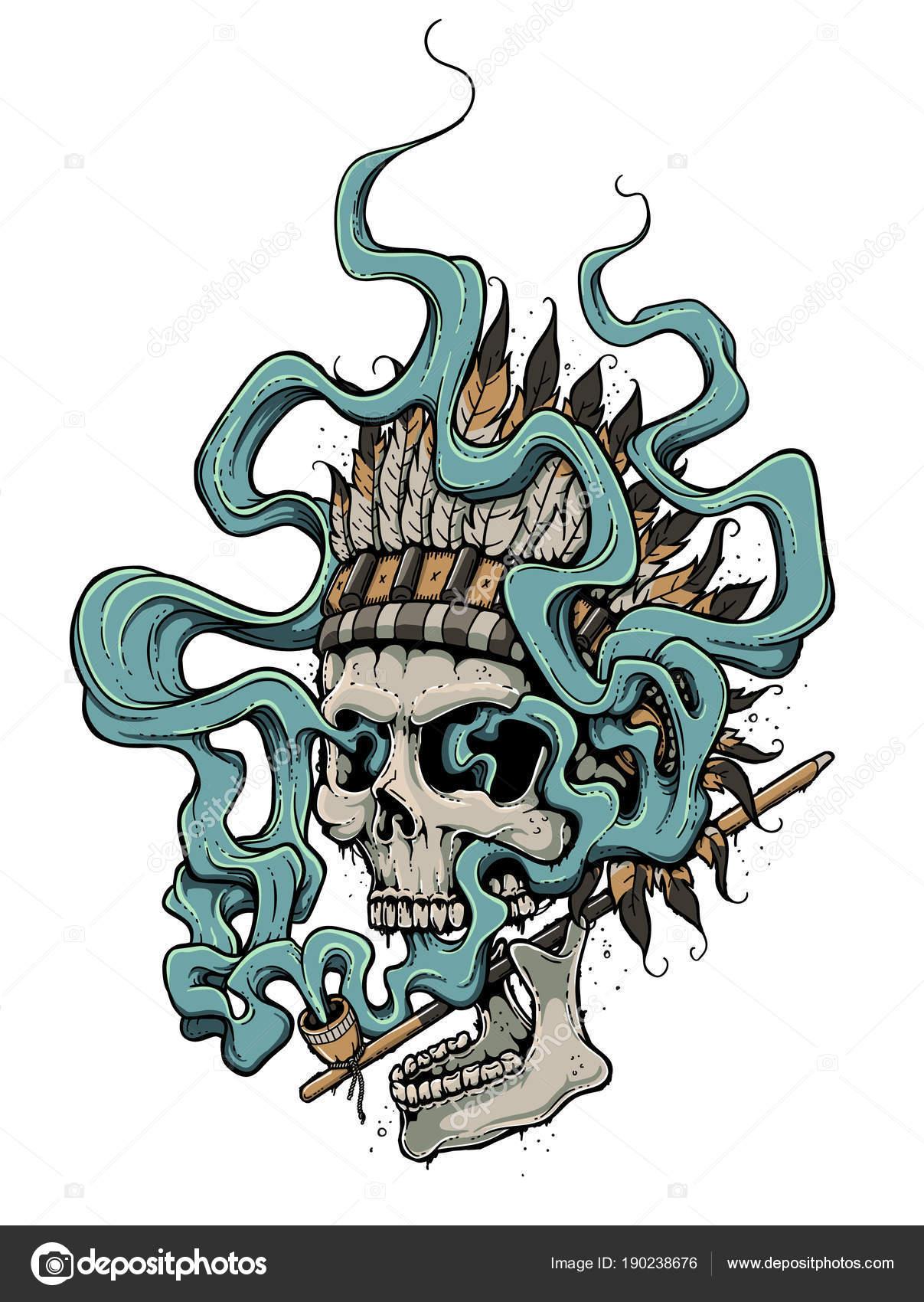Jefe indio muerto — Archivo Imágenes Vectoriales © zayatsandzayats ...