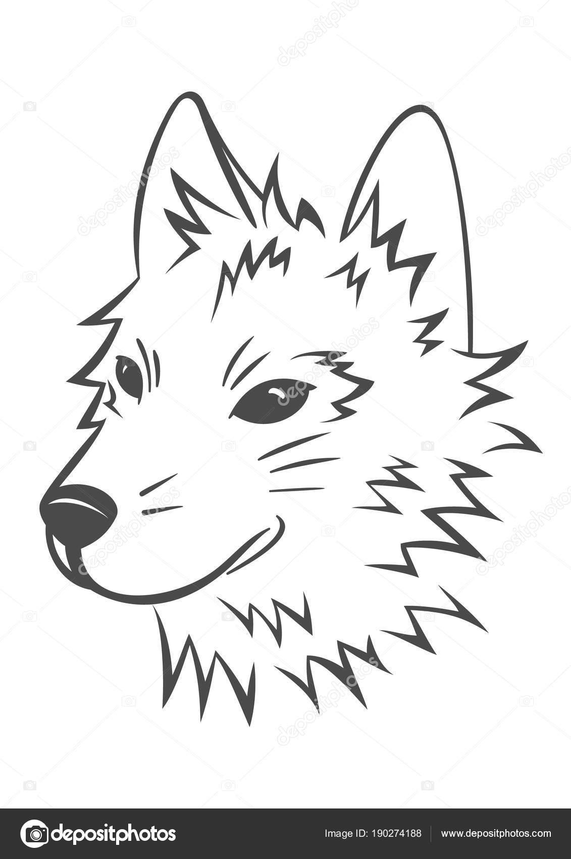 Vektor Wolf Kopf Stockvektor Zayatsandzayats 190274188