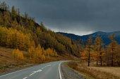 Autunno in montagne di Altai