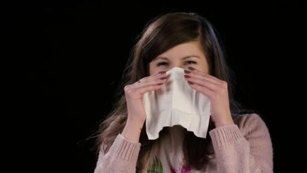Mladá dáma zrušením její nos