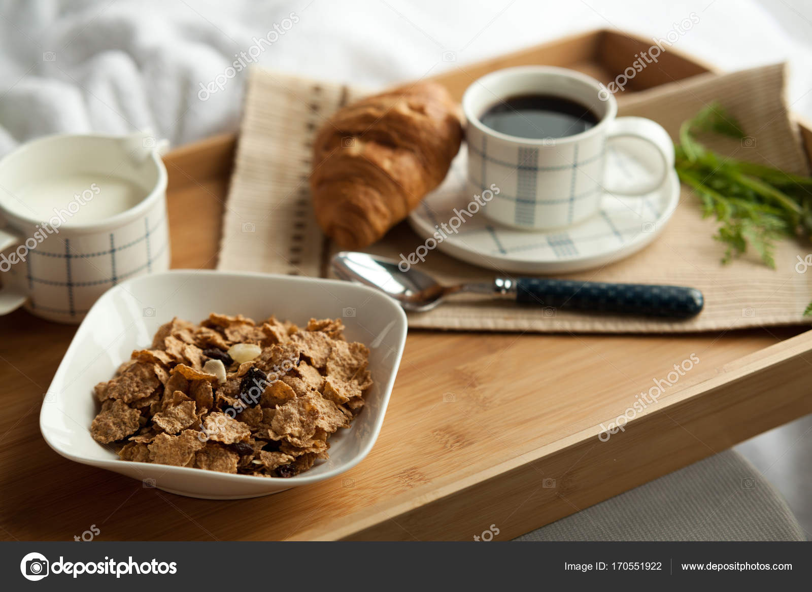 Healthy Breakfast In Bed With Coffee Stock Photo Image By C Dturphoto 170551922