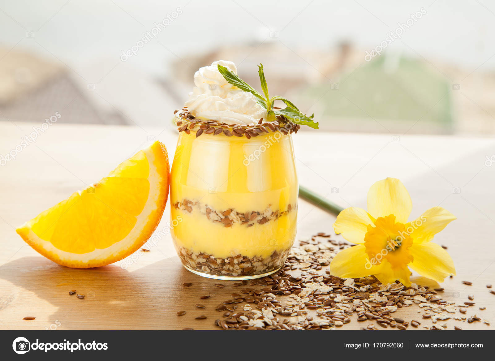 Diat Orange Niedrigen Zucker Pudding Stockfoto C Dturphoto 170792660