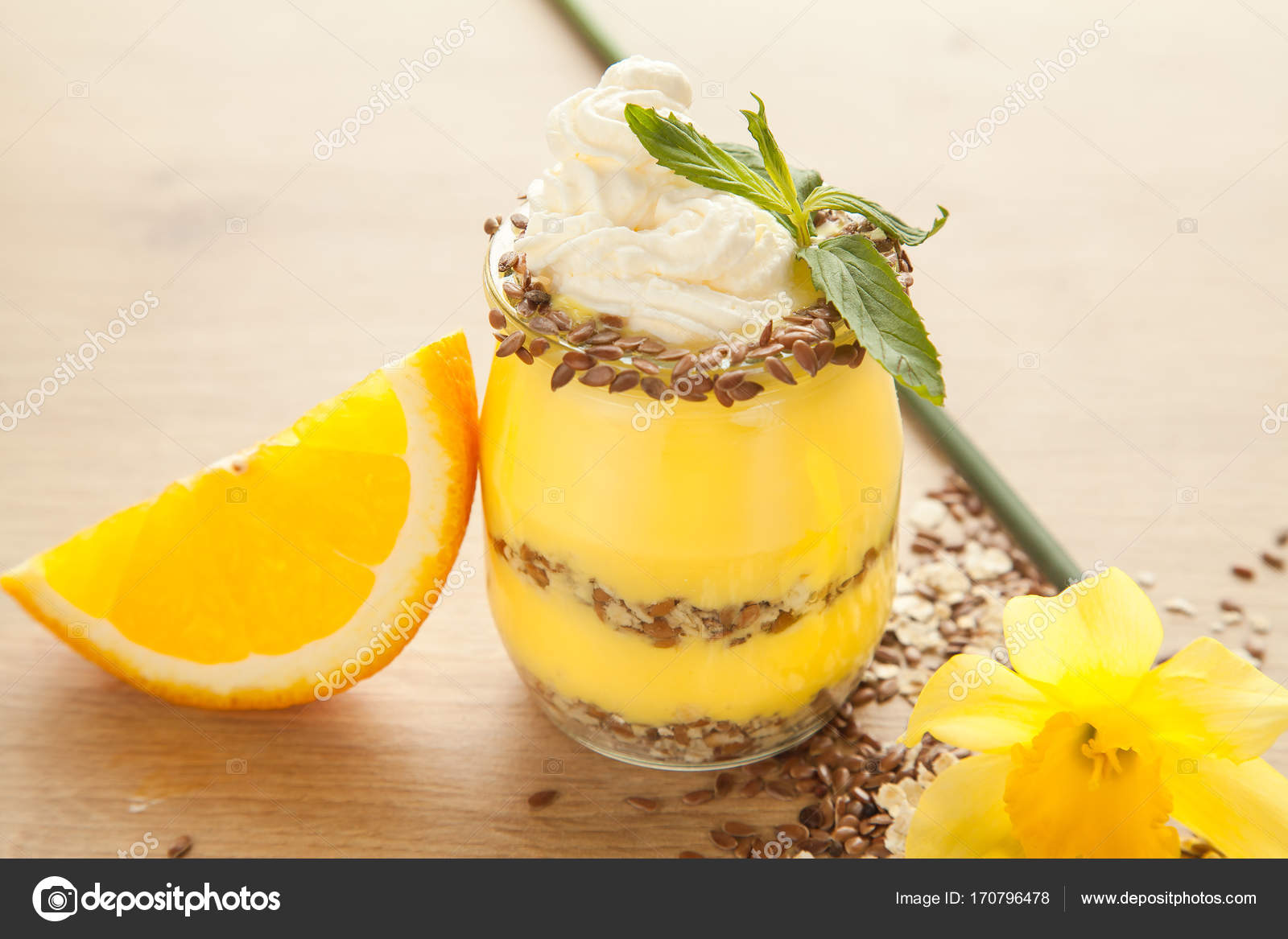 Diat Orange Niedrigen Zucker Pudding Stockfoto C Dturphoto 170796478