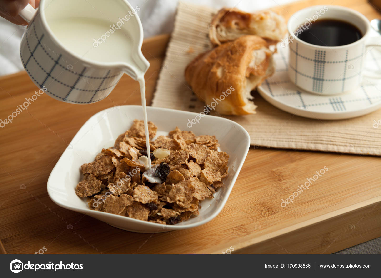 Healthy Breakfast In Bed With Coffee Stock Photo C Dturphoto 170998566