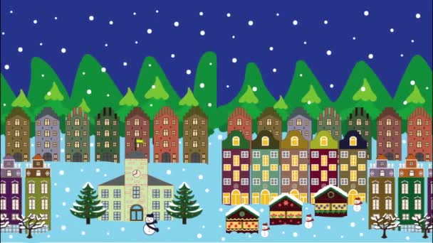 festive winter city