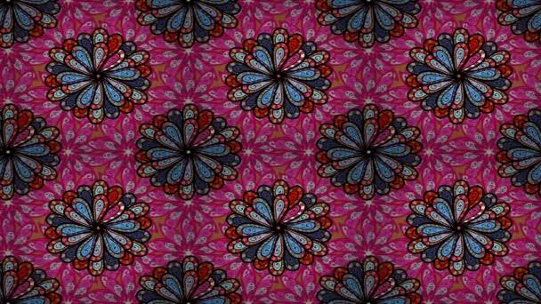 Mandala-stílus. Gazdag etnikai csíkos varrat nélküli mintát geometriai mintázattal. Színes mandala festék, fekete és piros színben. Videóinak.