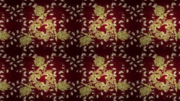 Video background. Pattern floral pattern. Wallpaper baroque, damask. Graphic modern pattern. Screensaver