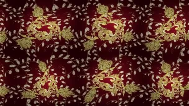 Video di sfondo. Disegno floreale. Barocco carta da parati, Damasco. Motivi grafici moderni. Screensaver