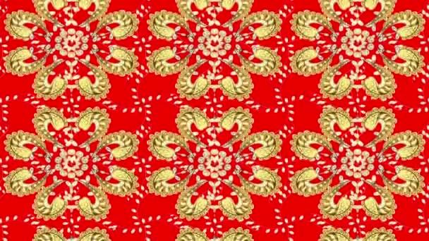 Goldene Vintage-Muster