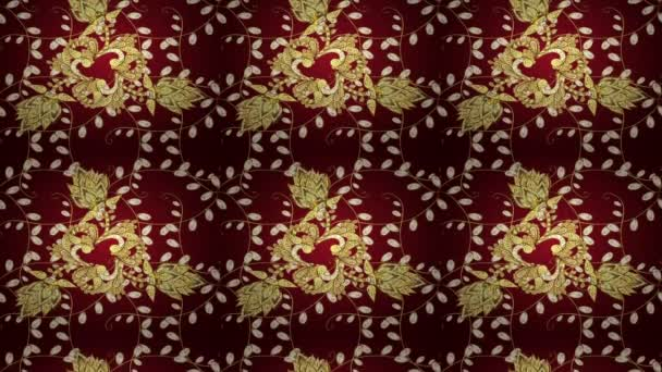 Pattern on red background