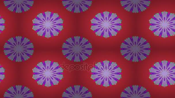 Květiny, pohybující se barevné kompozice