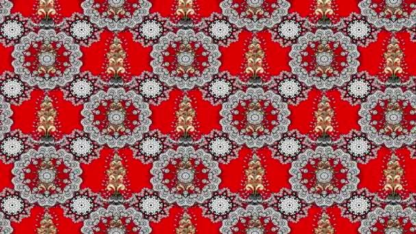 Weiß bewegliches Muster auf rotem Hintergrund