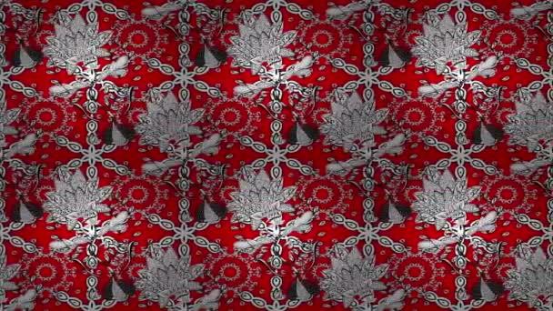 Piros alapon fehér mozgó minta
