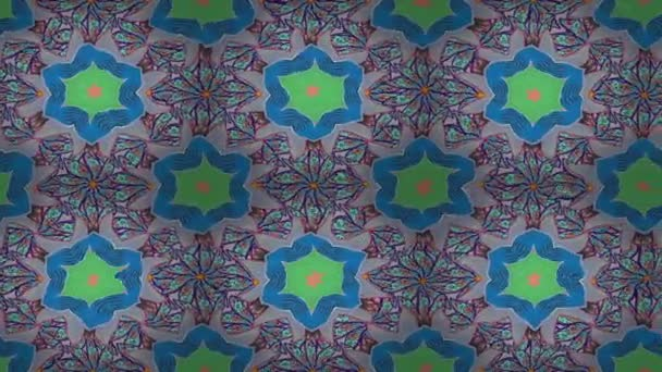 Videóinak Mandala mintával kék, bézs és lila színekben. Kelet, iszlám. Arab Vintage dekoratív dísze. Mandala színes háttér. Hurok.