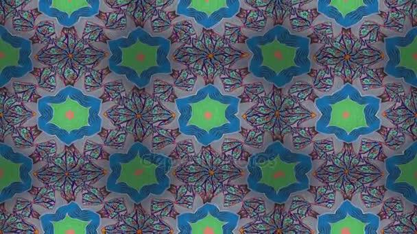 Video Mandala pattern on blue, beige and violet colors. East, Islam. Arabic Vintage decorative ornament. Mandala colored background. Loop.