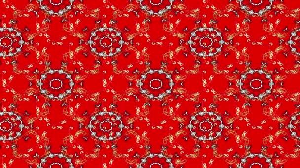 Vintage virág kompozíció, piros háttér. Hurok